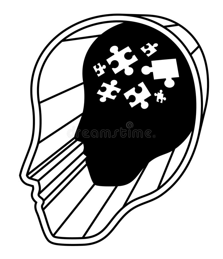 Download Puzzle mental human stock vector. Image of icon, creative - 26090888
