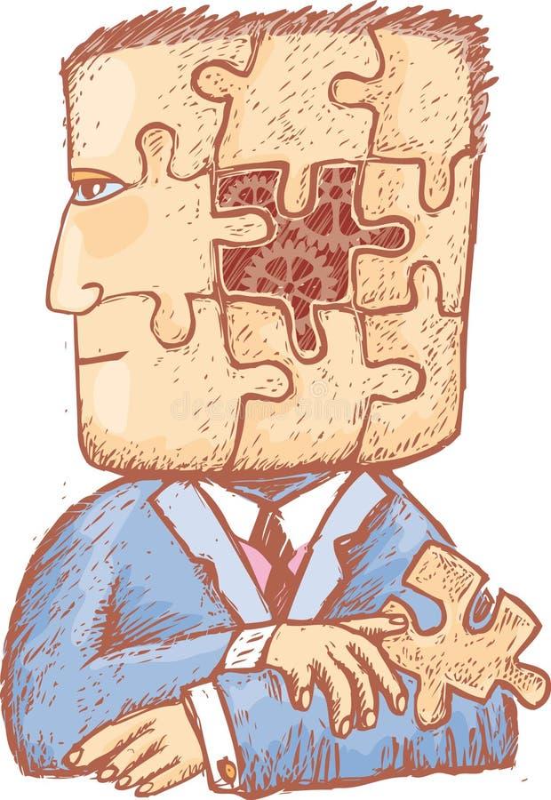 Puzzle in mia testa royalty illustrazione gratis