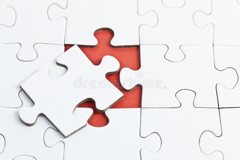 Download Puzzle with missing Part stock image. Image of piece - 22783703