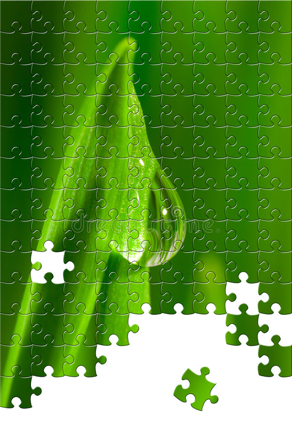 Puzzle with missing pieces stock illustration