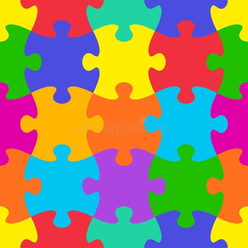 Puzzle-nahtloses Muster vektor abbildung
