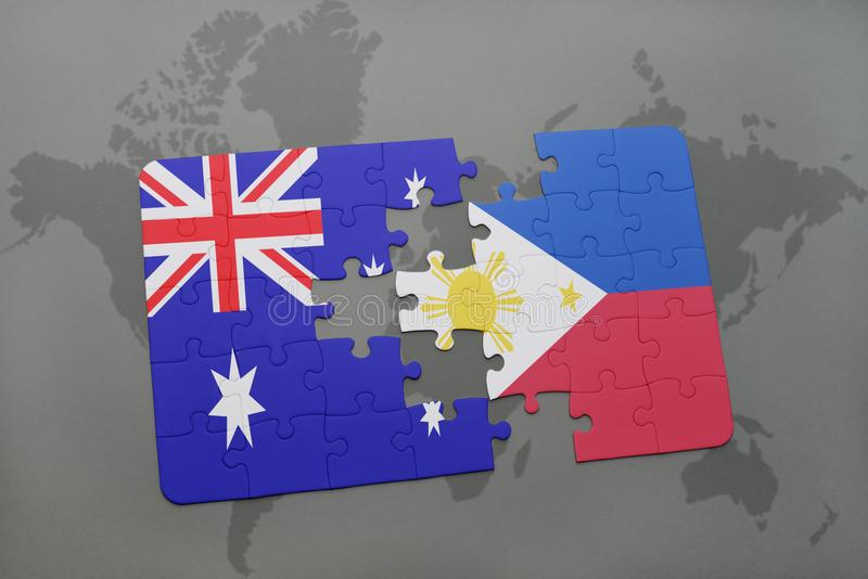 Puzzle with the national flag of australia and philippines on a download puzzle with the national flag of australia and philippines on a world map background gumiabroncs Image collections