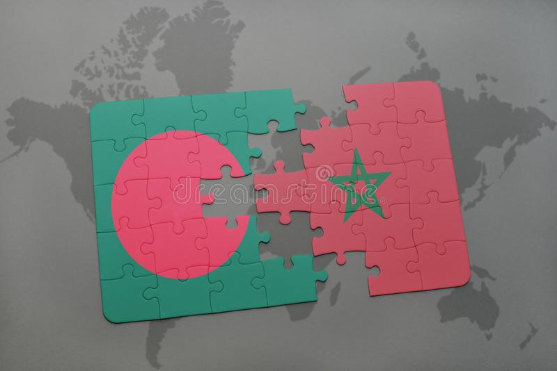 Puzzle with the national flag of bangladesh and morocco on a world download puzzle with the national flag of bangladesh and morocco on a world map stock illustration gumiabroncs Image collections