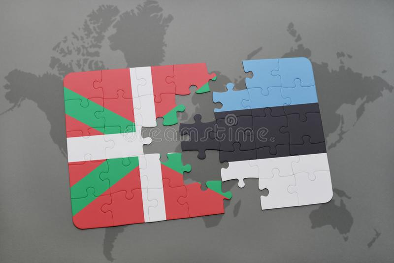 Puzzle with the national flag of basque country and estonia on a download puzzle with the national flag of basque country and estonia on a world map background gumiabroncs Gallery