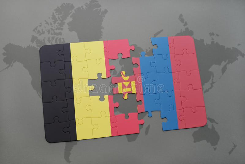 Puzzle with the national flag of belgium and mongolia on a world map download puzzle with the national flag of belgium and mongolia on a world map background gumiabroncs Choice Image