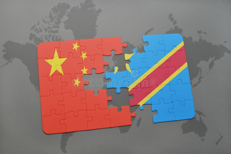 Puzzle with the national flag of china and democratic republic of download puzzle with the national flag of china and democratic republic of the congo on a gumiabroncs Gallery