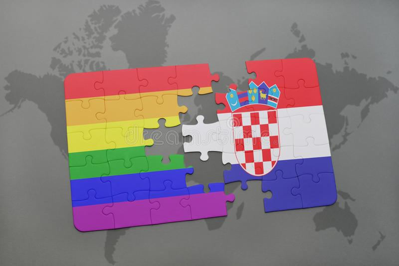 Puzzle with the national flag of croatia and gay rainbow flag on a download puzzle with the national flag of croatia and gay rainbow flag on a world map gumiabroncs Choice Image