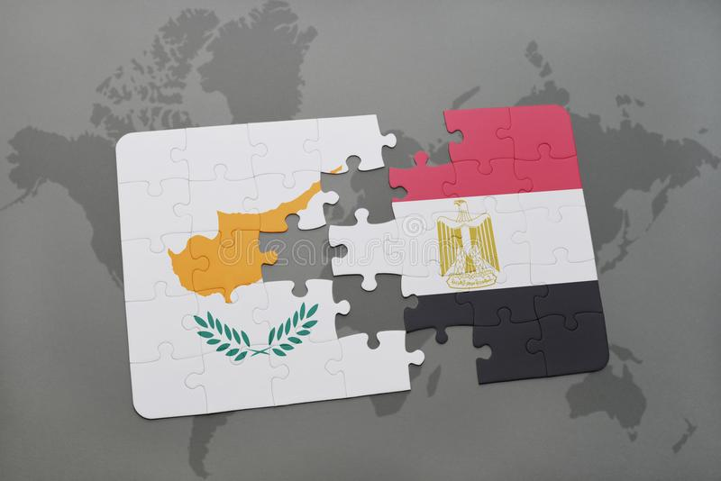 Puzzle with the national flag of cyprus and egypt on a world map download puzzle with the national flag of cyprus and egypt on a world map stock illustration gumiabroncs Image collections