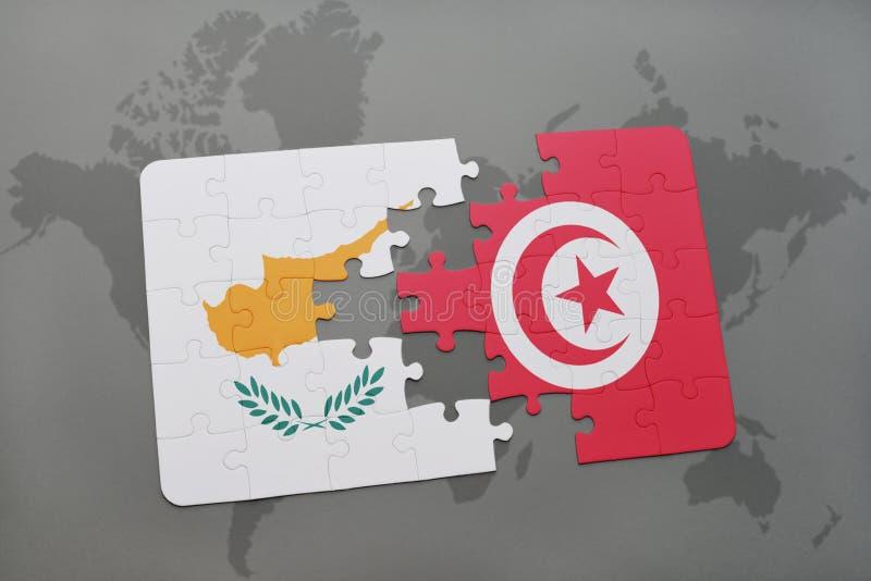 Tunisia on world map stock illustration. Illustration of ...