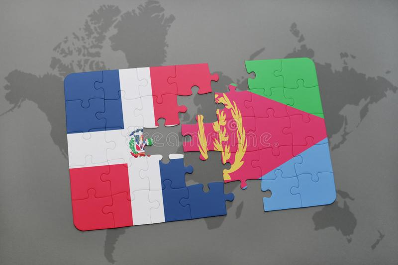 Puzzle with the national flag of dominican republic and eritrea on a download puzzle with the national flag of dominican republic and eritrea on a world map stock gumiabroncs Choice Image