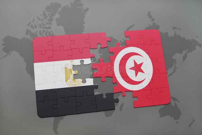 Puzzle with the national flag of egypt and tunisia on a world map download puzzle with the national flag of egypt and tunisia on a world map stock gumiabroncs Choice Image