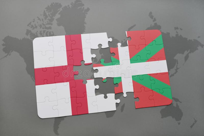 Puzzle with the national flag of england and basque country on a download puzzle with the national flag of england and basque country on a world map background gumiabroncs Images