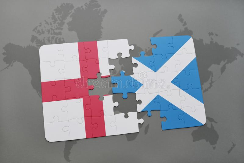 Puzzle with the national flag of england and scotland on a world map download puzzle with the national flag of england and scotland on a world map background gumiabroncs Gallery