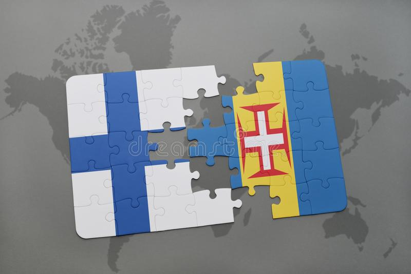 Puzzle with the national flag of finland and madeira on a world map download puzzle with the national flag of finland and madeira on a world map background gumiabroncs Image collections