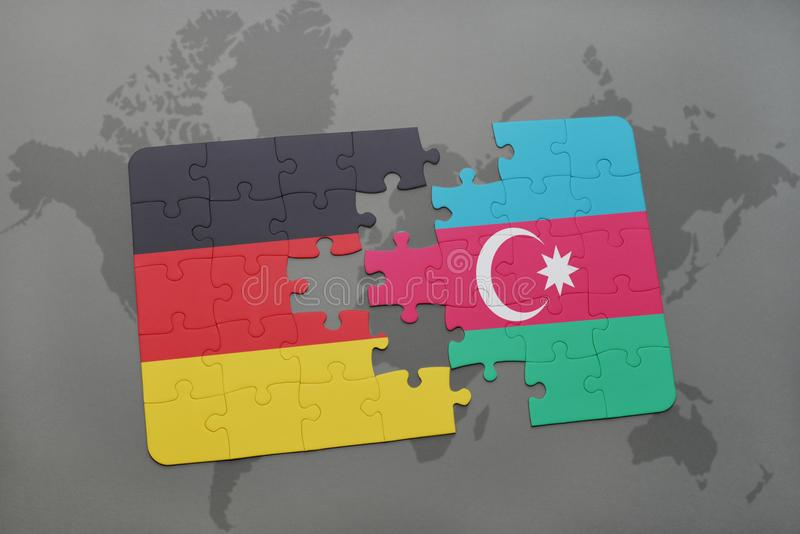 Puzzle with the national flag of germany and azerbaijan on a world download puzzle with the national flag of germany and azerbaijan on a world map background gumiabroncs Choice Image