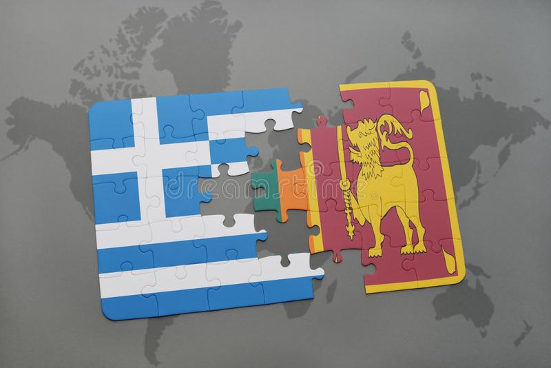 Puzzle with the national flag of greece and sri lanka on a world map download puzzle with the national flag of greece and sri lanka on a world map background gumiabroncs Image collections
