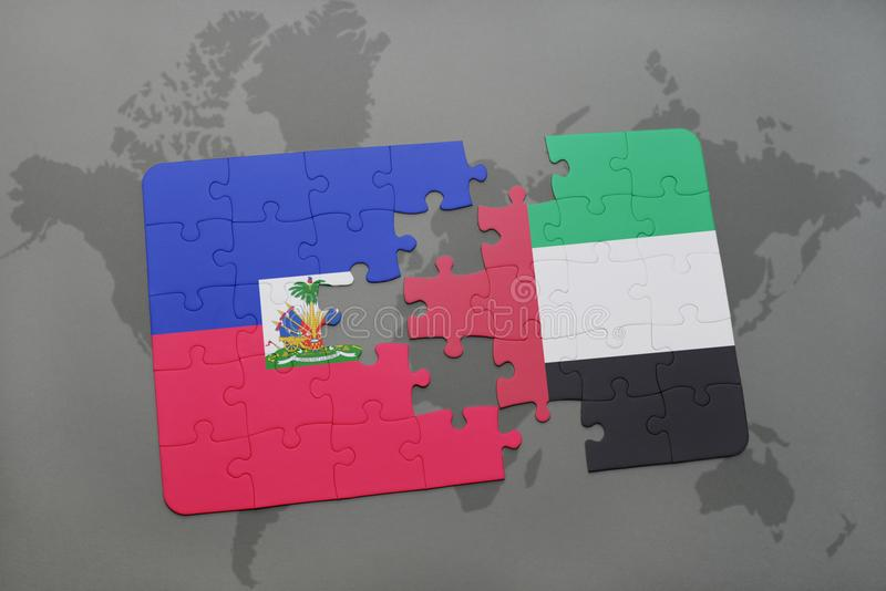 Puzzle with the national flag of haiti and united arab emirates on a download puzzle with the national flag of haiti and united arab emirates on a world map gumiabroncs Choice Image