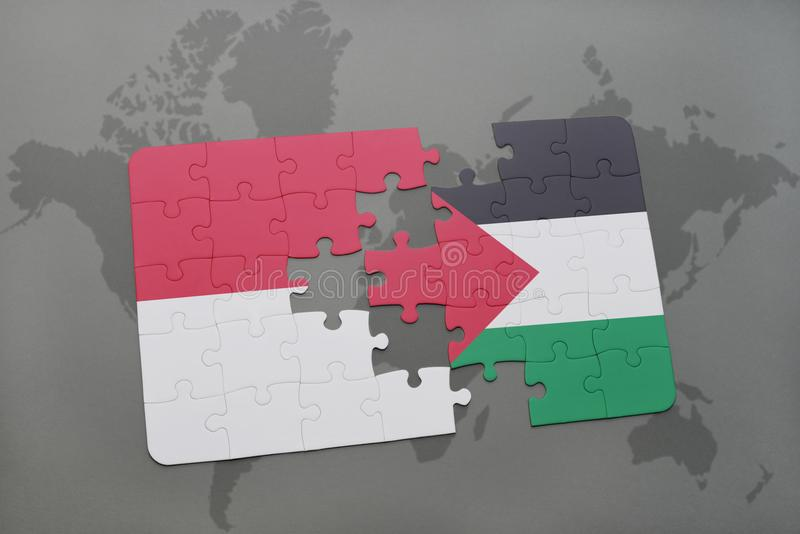 Puzzle with the national flag of indonesia and palestine on a world download puzzle with the national flag of indonesia and palestine on a world map background gumiabroncs Choice Image