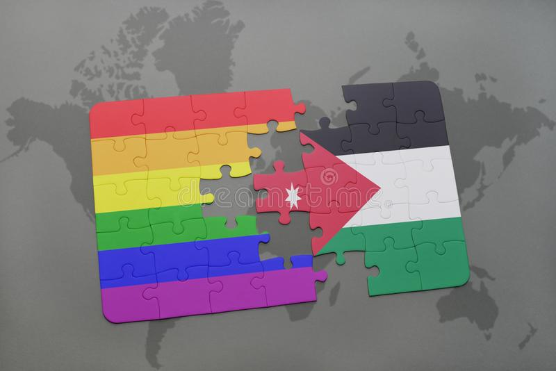Puzzle with the national flag of jordan and gay rainbow flag on a download puzzle with the national flag of jordan and gay rainbow flag on a world map gumiabroncs Gallery