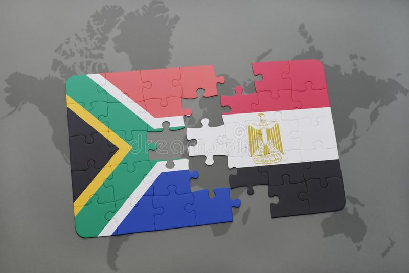 Puzzle with the national flag of south africa and egypt on a world download puzzle with the national flag of south africa and egypt on a world map gumiabroncs Images