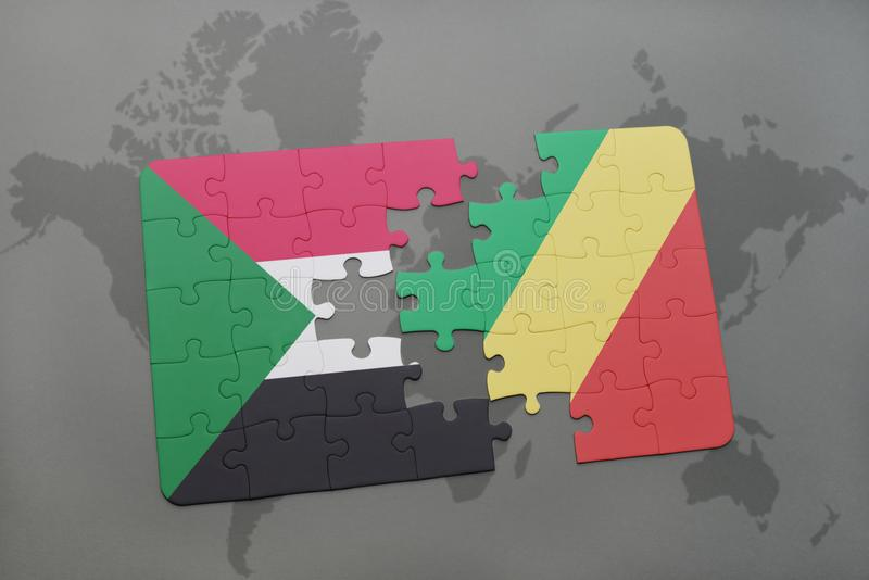 Sudan And Republic Of The Congo Flags Stock Illustration