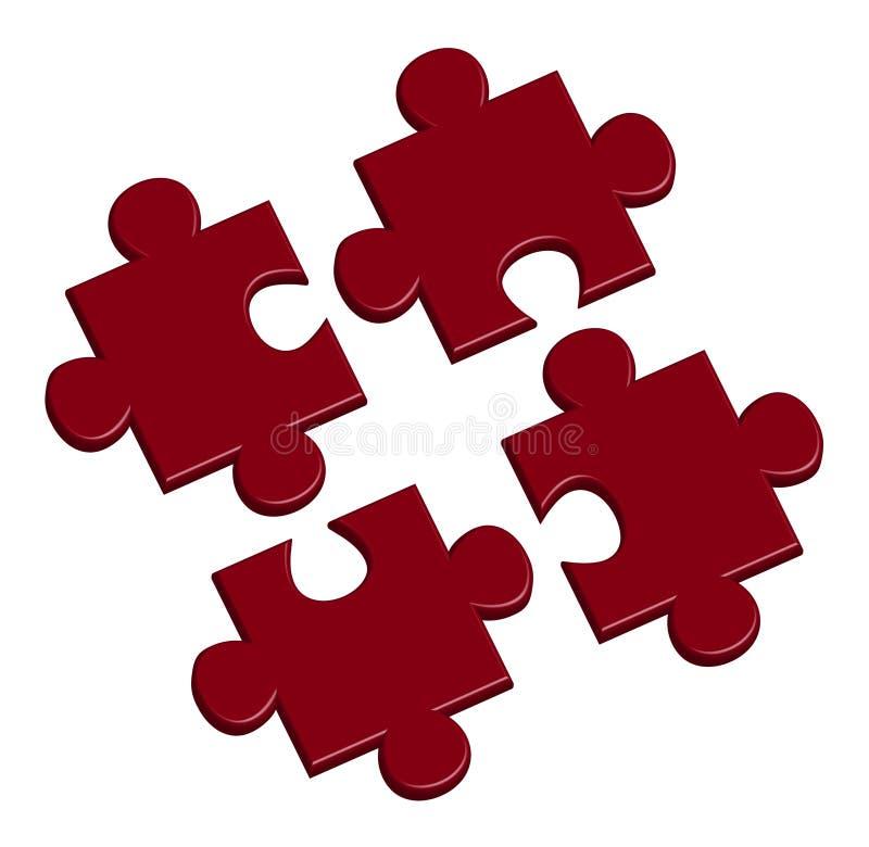 Puzzle nel colore rosso
