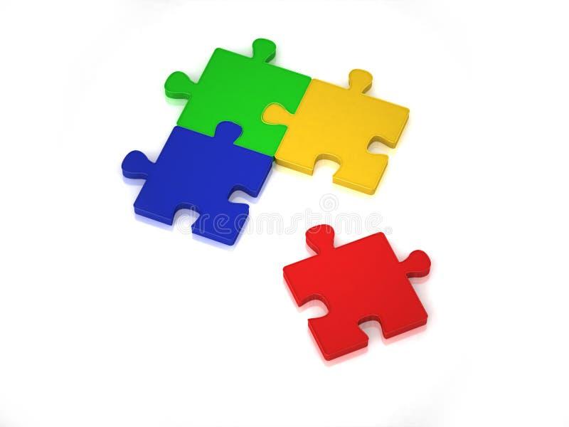puzzle non risolto 3D illustrazione vettoriale
