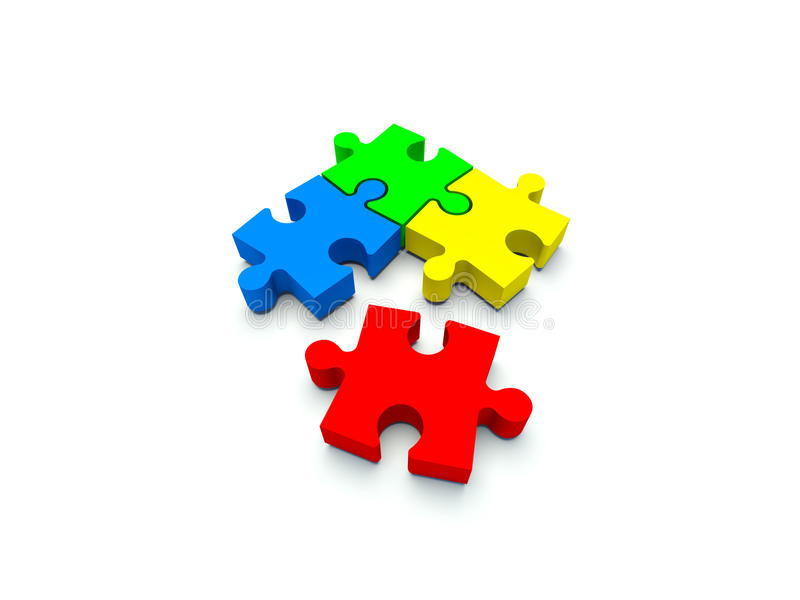 Download Puzzle without one piece stock illustration. Illustration of forms - 15824693