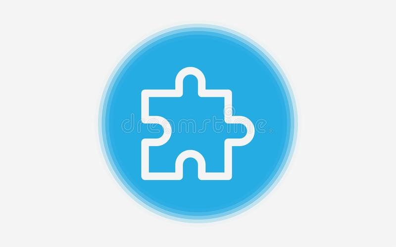 Puzzle vector icon sign symbol royalty free illustration