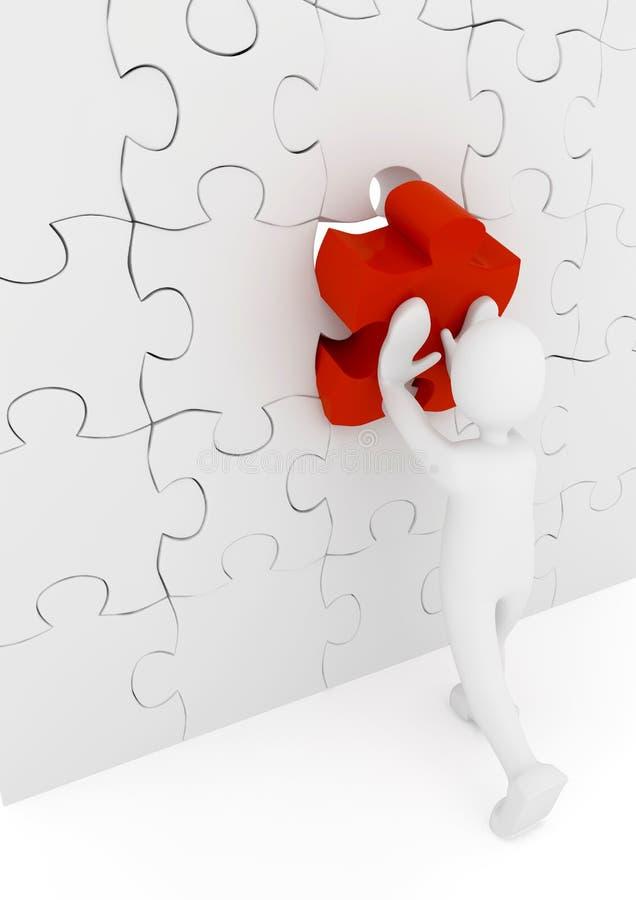 Puzzle over white background stock illustration