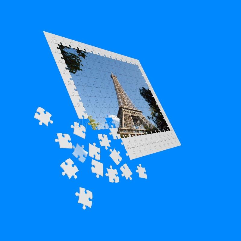 Puzzle parisienne royalty free illustration