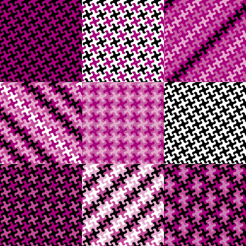 Puzzle Pattern in Magenta stock illustration