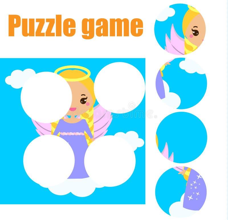 Puzzle per i bambini Gioco educativo di corrispondenza dei bambini I pezzi della partita e completano l'immagine Attività per pre royalty illustrazione gratis