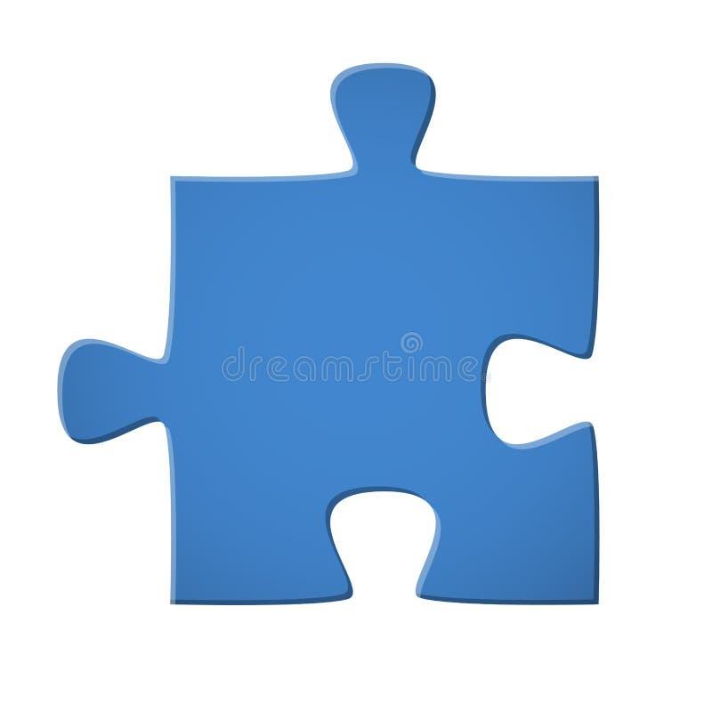 Puzzle piece blue. Jigsaw puzzle original blue connection process build 3d color colored development success cutout optional isolated creat concept analysis royalty free illustration