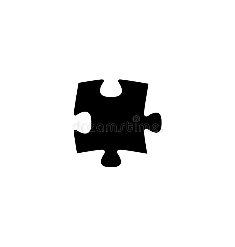 Puzzle piece flat icon. For apps and websites royalty free illustration