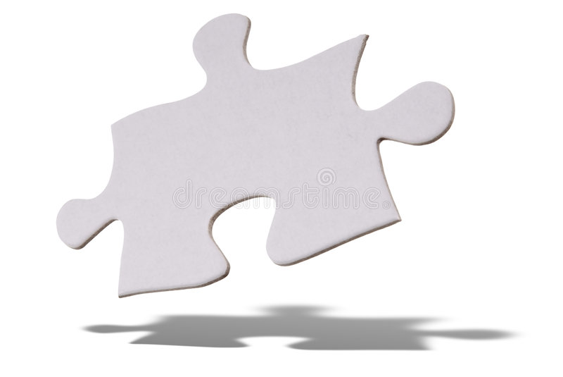Puzzle piece floating stock photography
