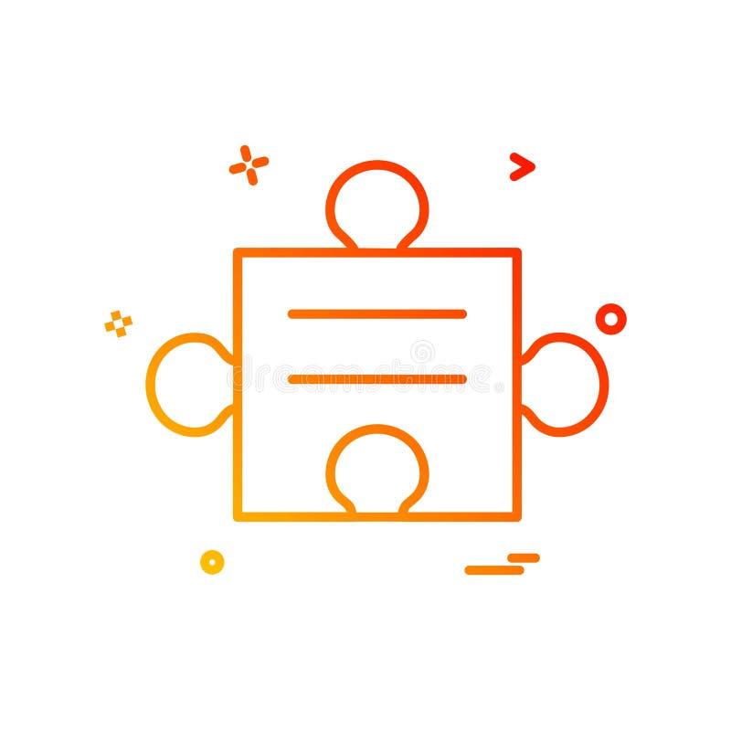 Colorful Company Logo Template With Tagline: Creative Puzzle Piece Logo Design. Flat Color Logo Place