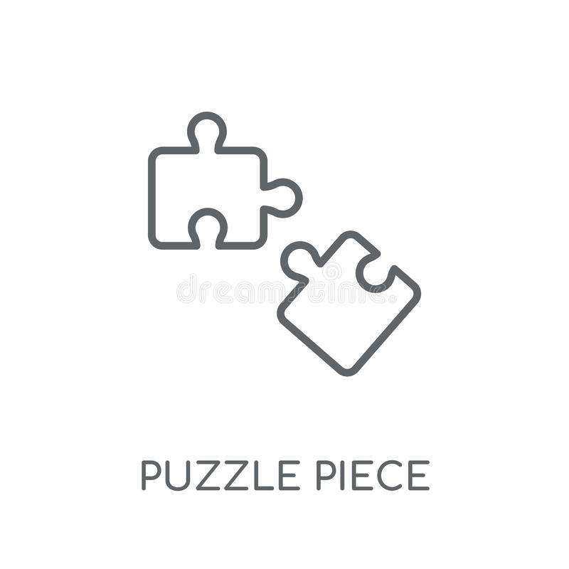 Puzzle piece linear icon. Modern outline Puzzle piece logo conce. Pt on white background from Productivity collection. Suitable for use on web apps, mobile apps vector illustration
