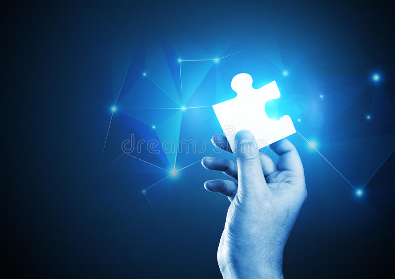 The Puzzle Piece royalty free stock photo