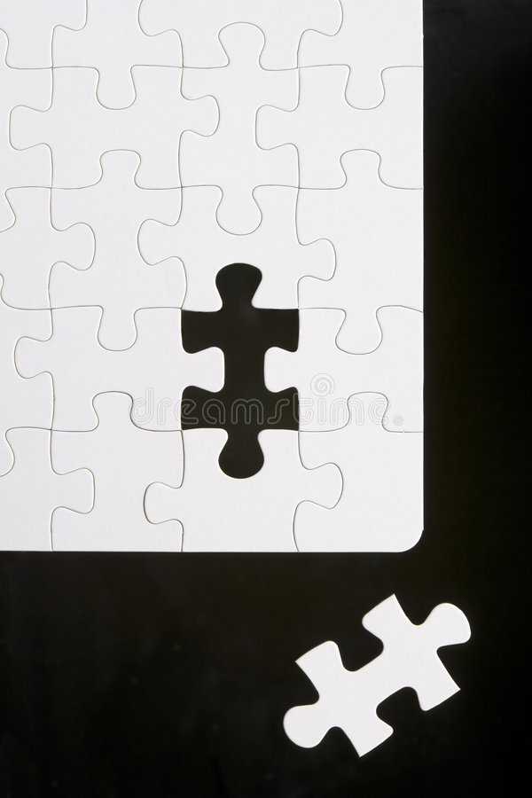 Puzzle With Piece Removed stock photo
