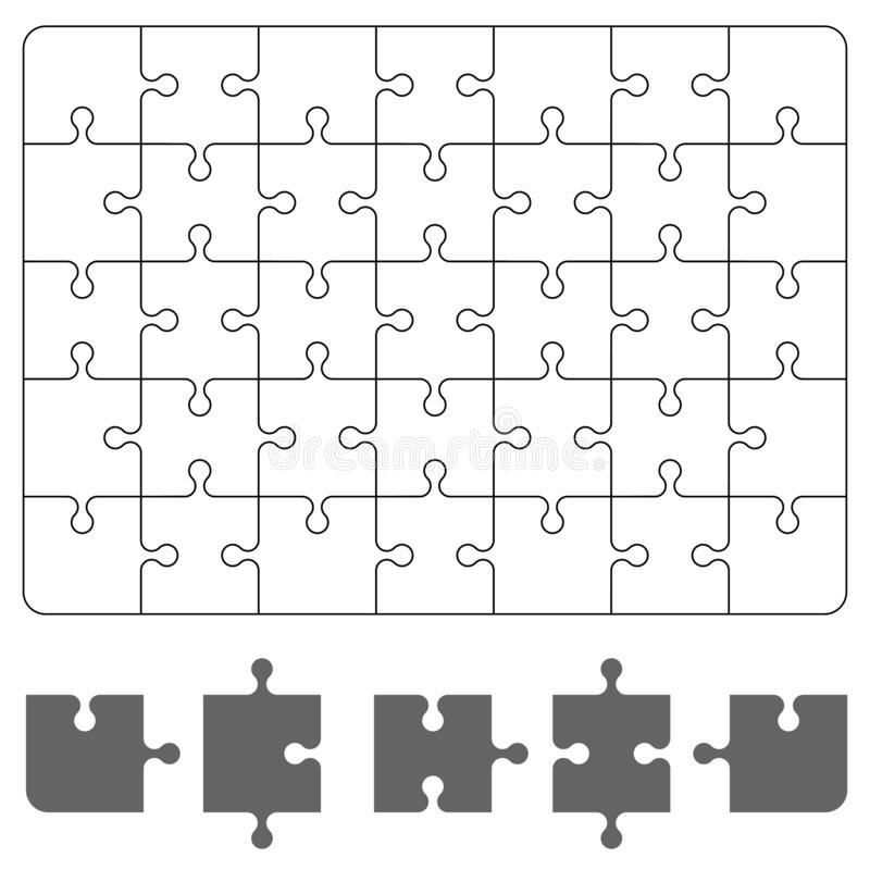 Puzzle piece on white background. Board game puzzle for Your business project. Vector Illustration royalty free illustration