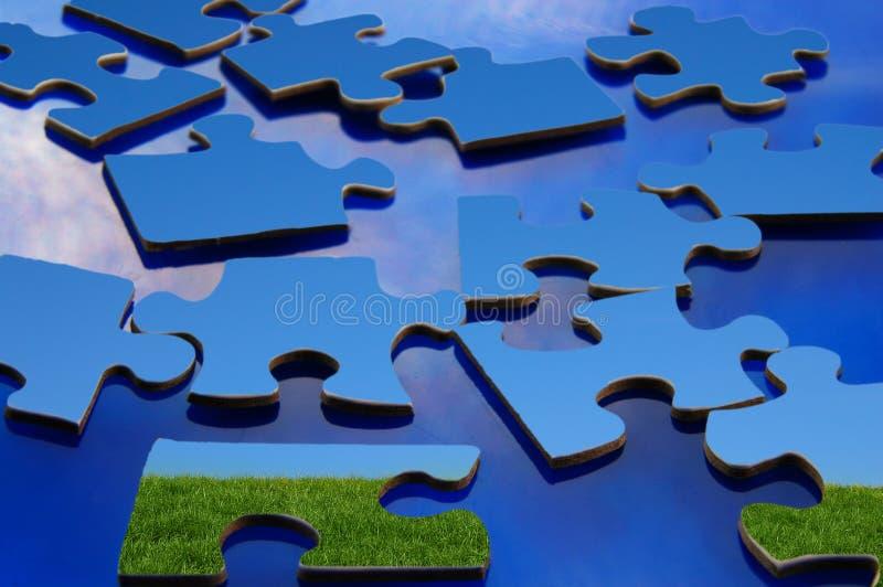 Puzzle pieces stock image