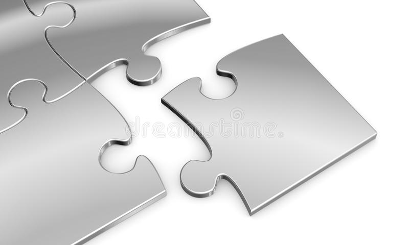 Download Puzzle pieces stock illustration. Image of metal, nobody - 27008485