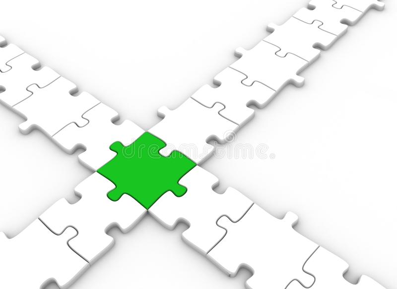 Download Puzzle pieces connected stock illustration. Image of business - 12405612