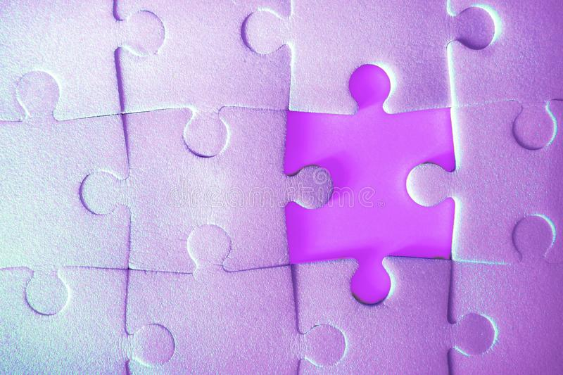 Puzzle pieces put together. stock photography