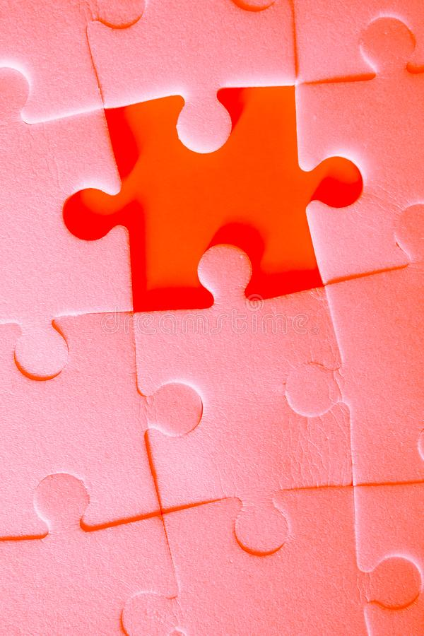 Puzzle pieces put together. stock images