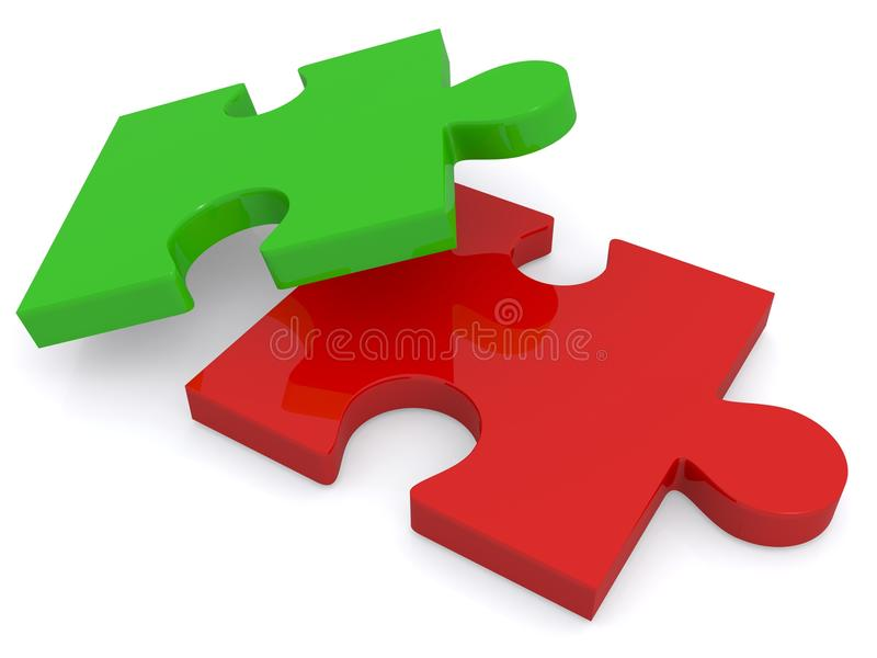 Puzzle pieces royalty free illustration