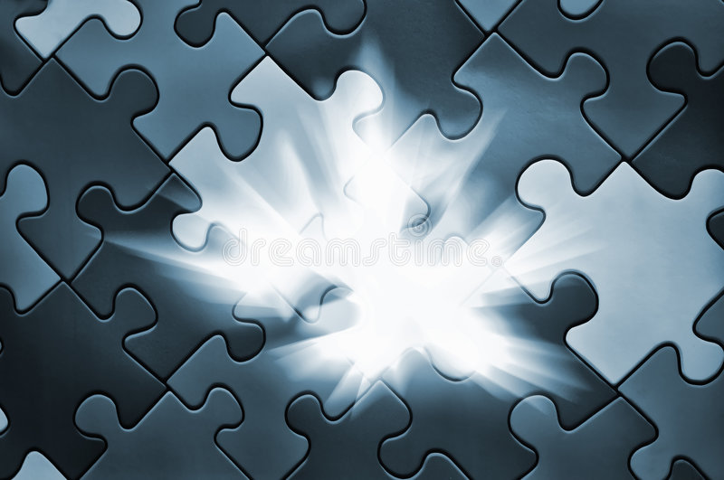 Puzzle plane - one piece missing vector illustration