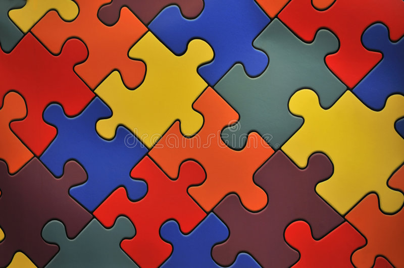 Puzzle plane - one piece missing stock photography