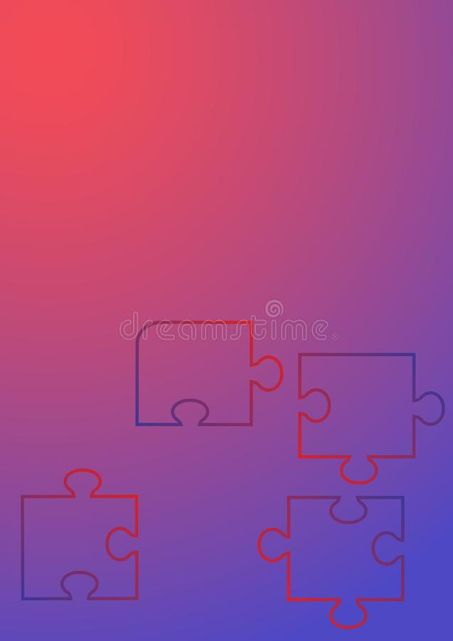 Puzzle plat de fond pour la conception de l'avant-projet technologie de plan?te de t?l?phone de la terre de code binaire de fond illustration de vecteur